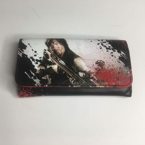 Handbags - Walking Dead Daryl Purse And Wallet Red Trifold